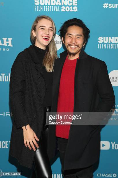 Sasha Chon and Director writer producer Justin Chon attends the Ms Purple Premiere during 2019 Sundance Film Festival at Library Center Theater on...