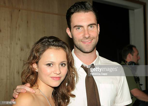 """Sasha Cohen and Adam Levine of Maroon 5 during Maroon 5 Launches Their Book """"Midnight Miles"""" at Miau Haus Art Studio in Los Angeles, California,..."""