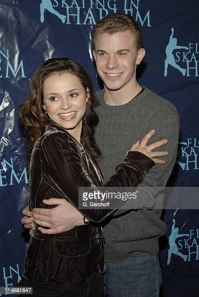 Sasha Cohen and Timothy Goebel during Skating With The Stars Under The Stars April 10 2006 at Wollman Rink Central Park in New York City New York...