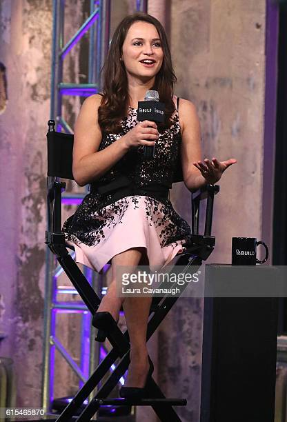 Sasha Cohen attends The Build Series at AOL HQ on October 18 2016 in New York City