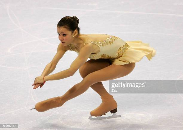 Sasha Cohen competes in the Free skate at the 2006 State Farm U.S. Figure Championships at the Savvis Center on January 14, 2006 in St. Louis,...