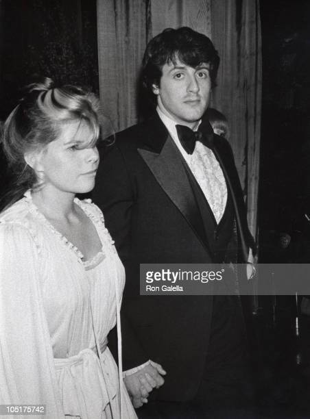 Sasha Czack Stallone and Sylvester Stallone during The 34th Annual Golden Globe Awards at Beverly Hilton Hotel in Beverly Hills California United...