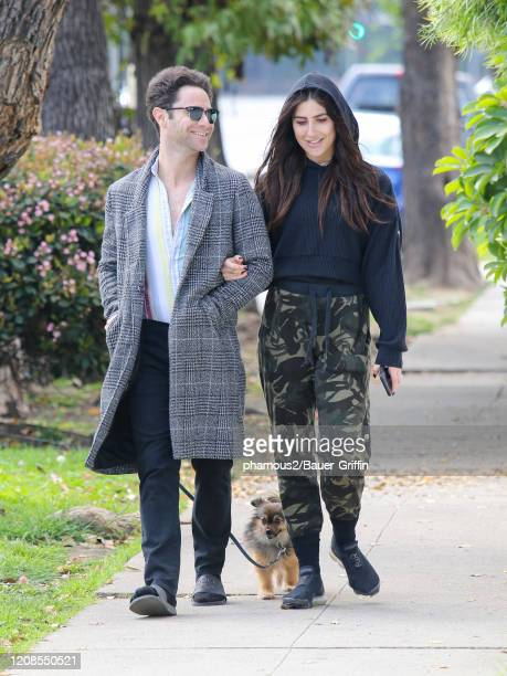 Sasha Farber and Emma Slater are seen on March 29, 2020 in Los Angeles, California.