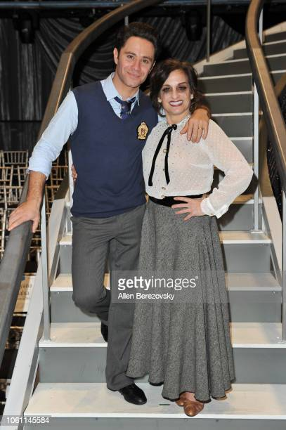 Sasha Farber and Mary Lou Retton pose at 'Dancing with the Stars' Season 27 at CBS Televison City on October 29, 2018 in Los Angeles, California.