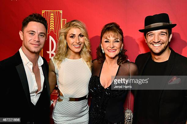 Sasha Farber Emma Slater Shirley Ballas and Mark Ballas attend the 2015 Royal Ball Hollywood Gala at Millennium Biltmore Hotel on March 21 2015 in...