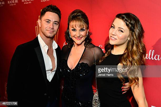 Sasha Farber Shirley Ballas and Brittany Cherry attend the 2015 Royal Ball Hollywood Gala at Millennium Biltmore Hotel on March 21 2015 in Los...
