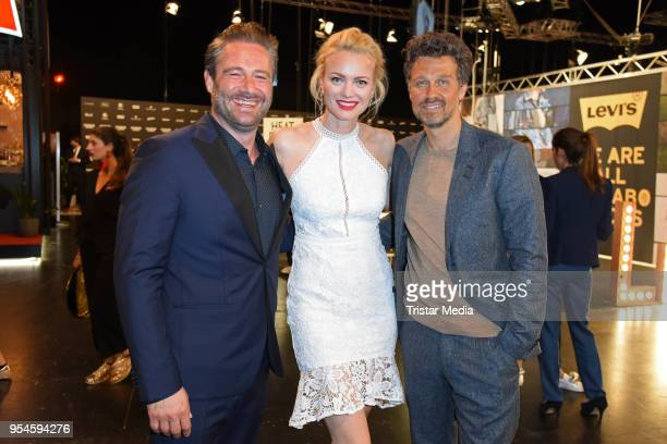 Sasha Franziska Knuppe and Wayne Carpendale during the ABOUT YOU Awards at Bavaria Studios on May 3 2018 in Munich Germany
