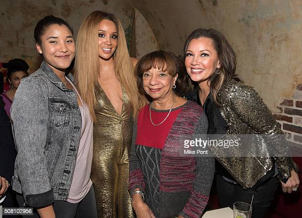 Sasha Gabriella Fox Singer Jillian Hervey Helen Tinch and Vanessa Williams attend the Lion Babe Begin Listening Party at The Roxy Hotel on February 2...