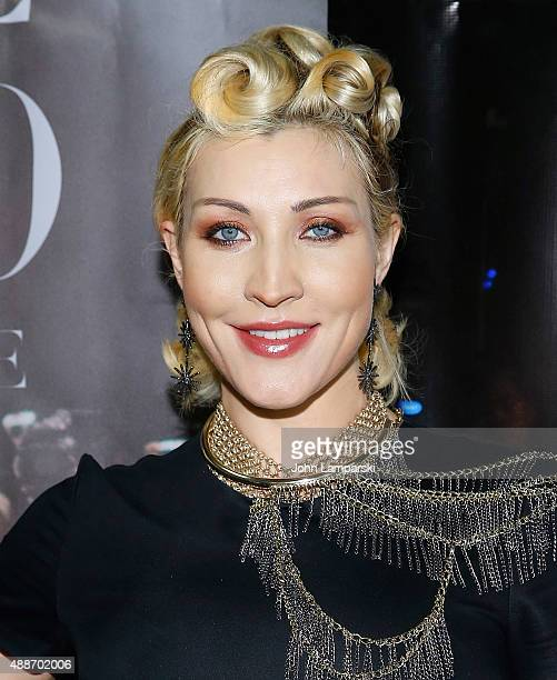 Sasha Gradiva attends 'Inside Amato' New York premiere at Liberty Theater on September 16 2015 in New York City