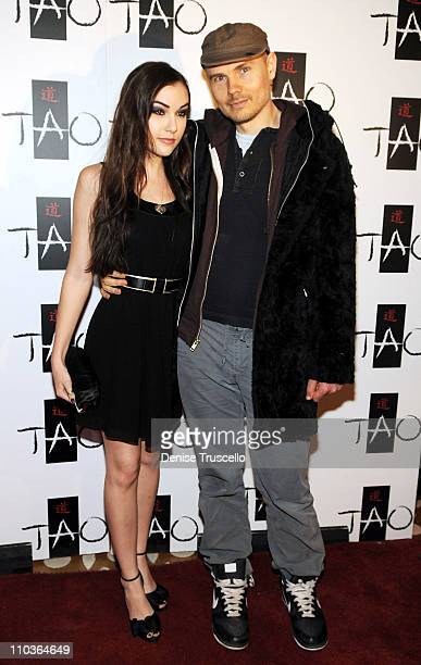 Sasha Grey and Billy Corgan arrive at Sasha's 21st Birthday at Tao Las Vegas on March 14 2009 in Las Vegas Nevada