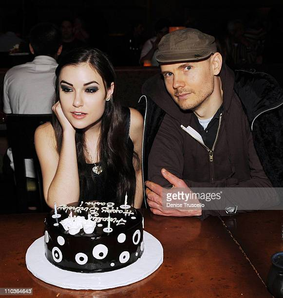 Sasha Grey and Billy Corgan celebrate Sasha's 21st Birthday at Tao Las Vegas on March 14 2009 in Las Vegas Nevada