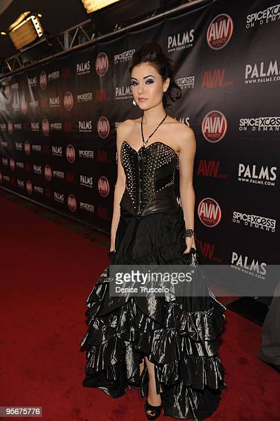 Sasha Grey arrives at the 2010 AVN Awards at the Pearl at The Palms Casino Resort on January 9 2010 in Las Vegas Nevada