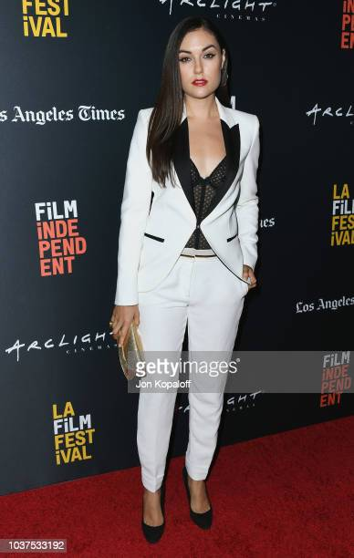 Sasha Grey attends the 2018 LA Film Festival Into The Dark The Body World Premiere at Writers Guild Theater on September 21 2018 in Beverly Hills...