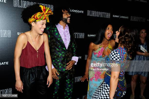 Sasha Hutchings Daveed Diggs Renee Elise Goldsberry and Jasmin Cephas Jones attend as Lionsgate with the Cinema Society host a screening of...