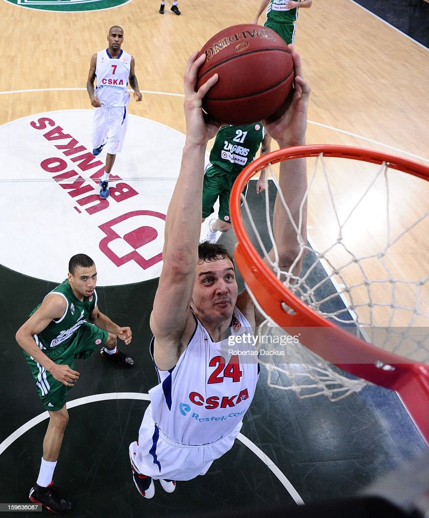 Zalgiris Kaunas v CSKA Moscow - Turkish Airlines Euroleague