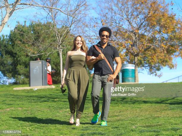 Sasha Kerbel and Rico E. Anderson are seen on January 15, 2021 in Los Angeles, California.