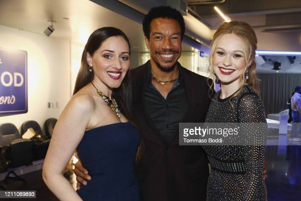 """Sasha Kerbel, Rico E. Anderson and Rachelle Henry attend the Cameron Nino """"Out"""" EP Launch on March 07, 2020 in Playa Vista, California."""
