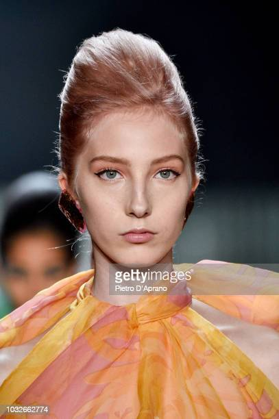 Sasha Komarova walks runway at the Marc Jacobs Spring 2019 Runway during New York Fashion Week The Shows at Park Avenue Armory on September 12 2018...