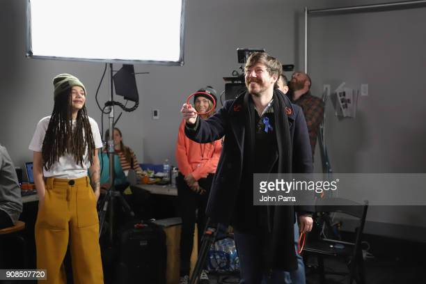 Sasha Lane and John Gallagher Jr from 'The Miseducation of Cameron Post' attend The Hollywood Reporter 2018 Sundance Studio At Sky Strada Park City...