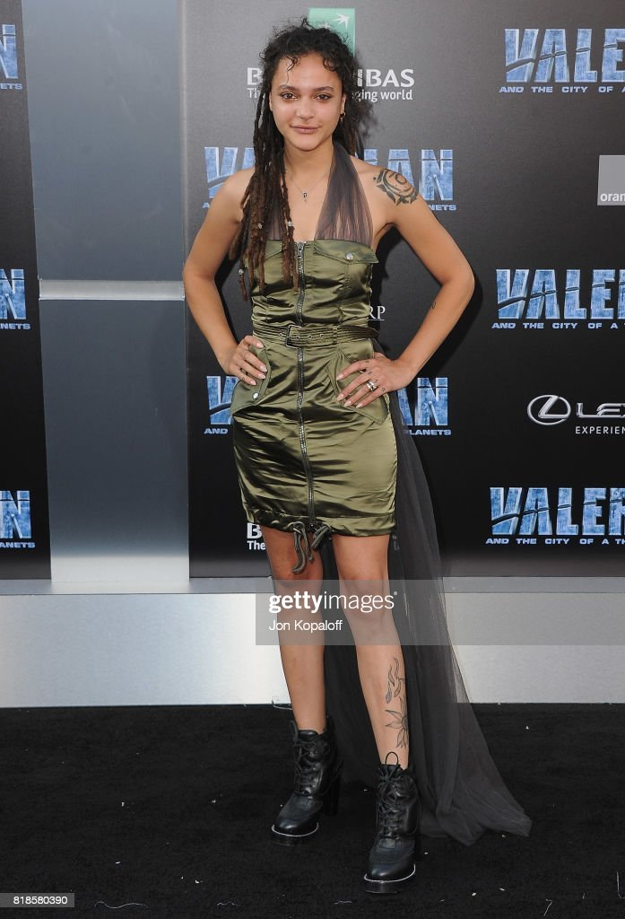 Sasha Lane arrives at the Los Angeles Premiere 'Valerian And The City Of A Thousand Planets' at TCL Chinese Theatre on July 17, 2017 in Hollywood, California.