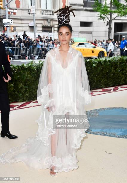 Sasha Lane attend the Heavenly Bodies Fashion The Catholic Imagination Costume Institute Gala at The Metropolitan Museum of Art on May 7 2018 in New...