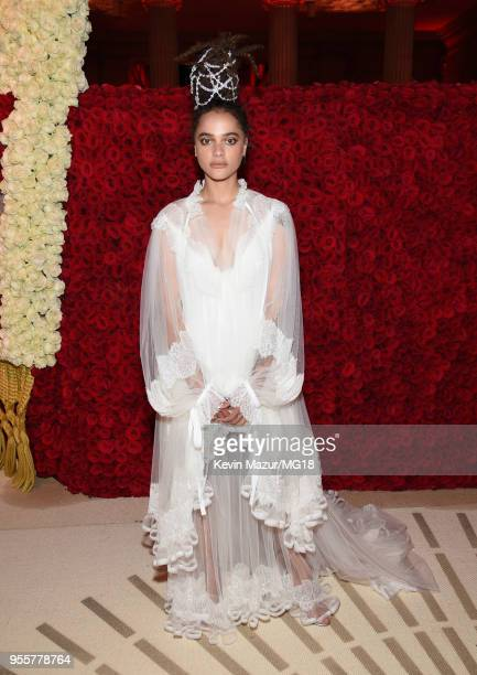 Sasha Lane attends the Heavenly Bodies Fashion The Catholic Imagination Costume Institute Gala at The Metropolitan Museum of Art on May 7 2018 in New...