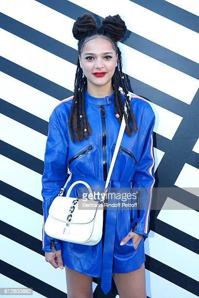 Sasha Lane attends the Louis Vuitton show as part of the Paris Fashion Week Womenswear Spring/Summer 2017 on October 5 2016 in Paris France
