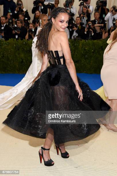 Sasha Lane attends the 'Rei Kawakubo/Comme des Garcons Art Of The InBetween' Costume Institute Gala at Metropolitan Museum of Art on May 1 2017 in...