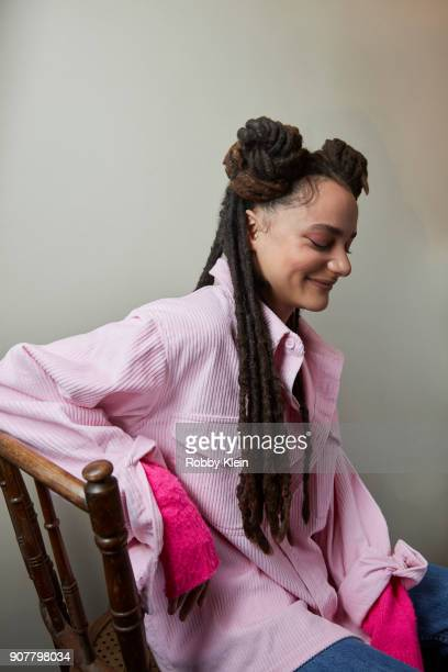 Sasha Lane from the film 'Hearts Beat Loud' poses for a portrait at the YouTube x Getty Images Portrait Studio at 2018 Sundance Film Festival on...