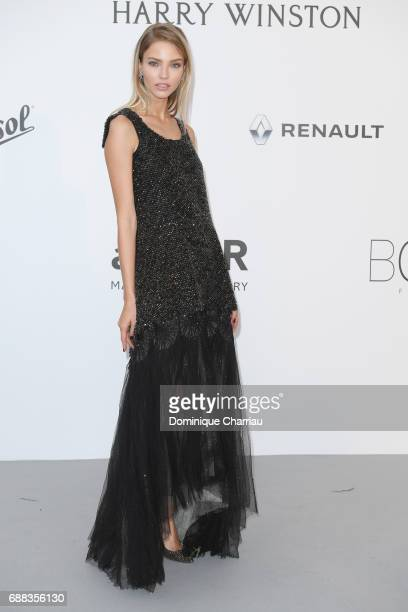 Sasha Luss arrives at the amfAR Gala Cannes 2017 at Hotel du CapEdenRoc on May 25 2017 in Cap d'Antibes France