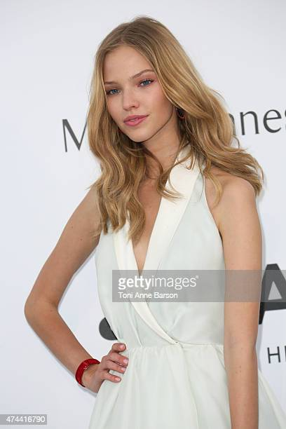 Sasha Luss attends amfAR's 22nd Cinema Against AIDS Gala Presented By Bold Films And Harry Winston at Hotel du CapEdenRoc on May 21 2015 in Cap...