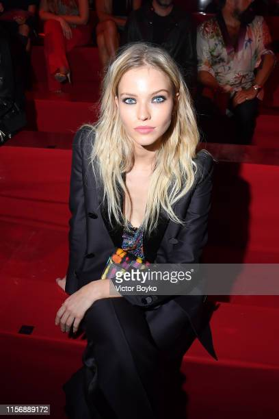 Sasha Luss attends Dsquared2 Front Row Milan Men's and Women's Fashion fashion week Spring Summer 20 on June 16 2019 in Milan Italy