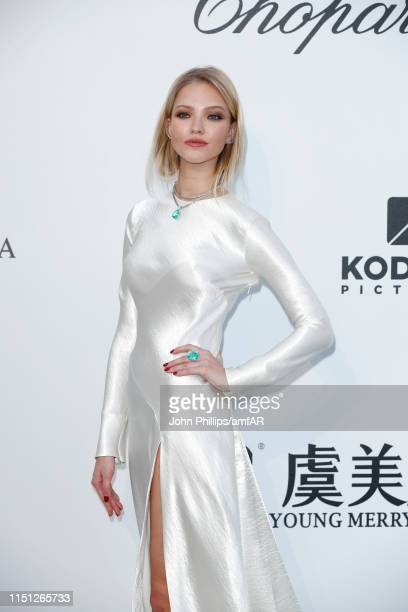 Sasha Luss attends the amfAR Cannes Gala 2019 at Hotel du CapEdenRoc on May 23 2019 in Cap d'Antibes France