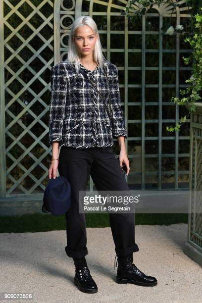 Sasha Luss attends the Chanel Haute Couture Spring Summer 2018 show as part of Paris Fashion Week on January 23 2018 in Paris France