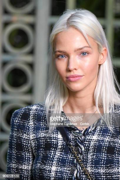 Sasha Luss attends the Chanel Haute Couture Spring Summer 2018 show as part of Paris Fashion Week January 23 2018 in Paris France