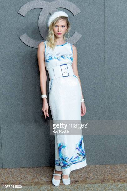 Sasha Luss attends the Chanel Metiers D'Art 2018/19 Show at The Metropolitan Museum of Art on December 04 2018 in New York City