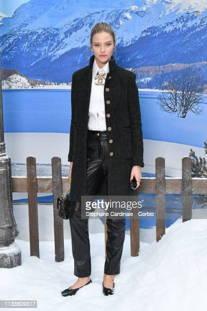 Sasha Luss attends the Chanel show as part of the Paris Fashion Week Womenswear Fall/Winter 2019/2020 on March 05 2019 in Paris France