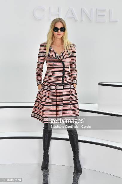 Sasha Luss attends the Chanel show as part of the Paris Fashion Week Womenswear Fall/Winter 2020/2021 on March 03 2020 in Paris France
