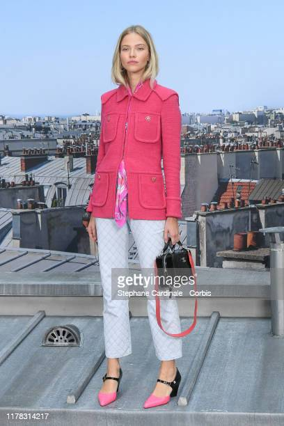 Sasha Luss attends the Chanel Womenswear Spring/Summer 2020 show as part of Paris Fashion Week on October 01 2019 in Paris France