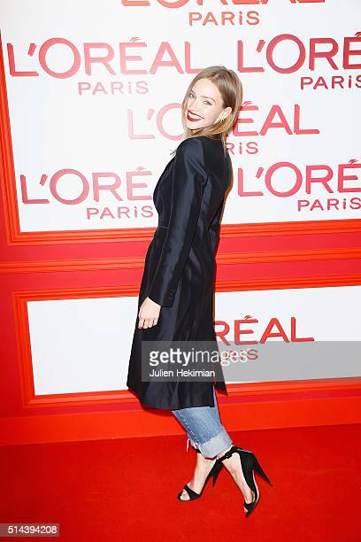 Sasha Luss attends the L'Oreal Red Obsession Party during Paris Fashion Week Womenswear Fall/Winter 2016/2017 on March 8 2016 in Paris France