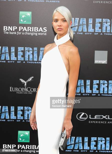 Sasha Luss attends the premiere of EuropaCorp and STX Entertainment's Valerian and The City of a Thousand Planets at TCL Chinese Theatre on July 17...