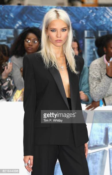 Sasha Luss attends the Valerian And The City Of A Thousand Planets European Premiere at Cineworld Leicester Square on July 24 2017 in London England