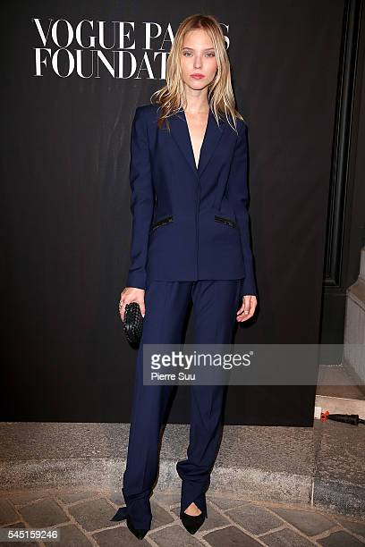Sasha Luss attends the Vogue Foundation Gala 2016 at Palais Galliera on July 5 2016 in Paris France