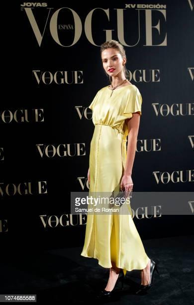 Sasha Luss attends the Vogue Joyas awards 2018 at Palacio de Santoña on November 29 2018 in Madrid Spain