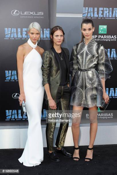 Sasha Luss Aymeline Valade and Pauline Hoarau attend the premiere of EuropaCorp and STX Entertainment's 'Valerian and The City of a Thousand Planets'...