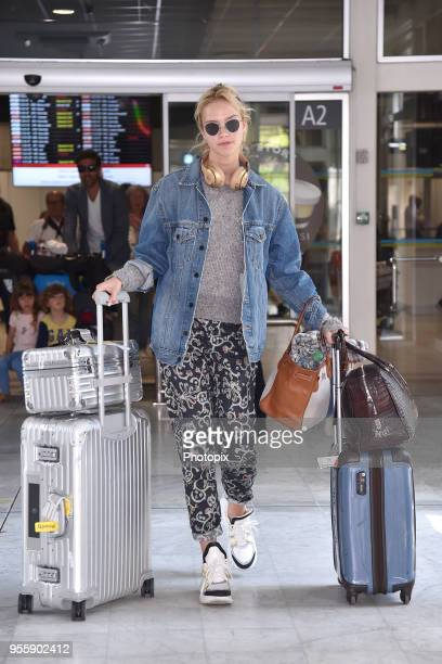 Sasha Luss is seen arriving at Nice Airport during the 71st annual Cannes Film Festival at Nice Airport on May 8 2018 in Nice France