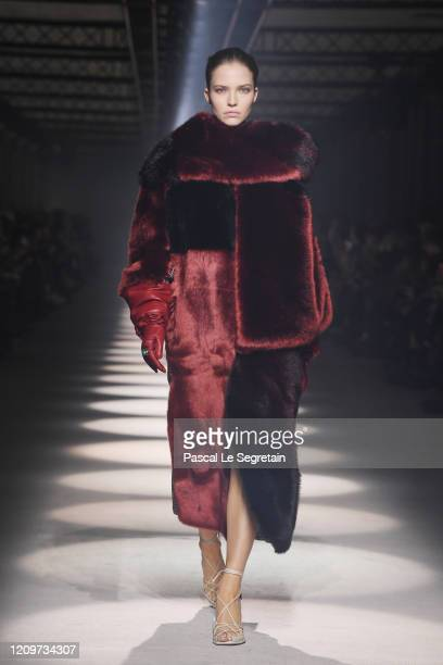 Sasha Luss walks the runway during the Givenchy as part of the Paris Fashion Week Womenswear Fall/Winter 2020/2021 on March 01 2020 in Paris France