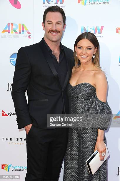 Sasha Mielczarek and Sam Frost arrive for the 29th Annual ARIA Awards 2015 at The Star on November 26 2015 in Sydney Australia
