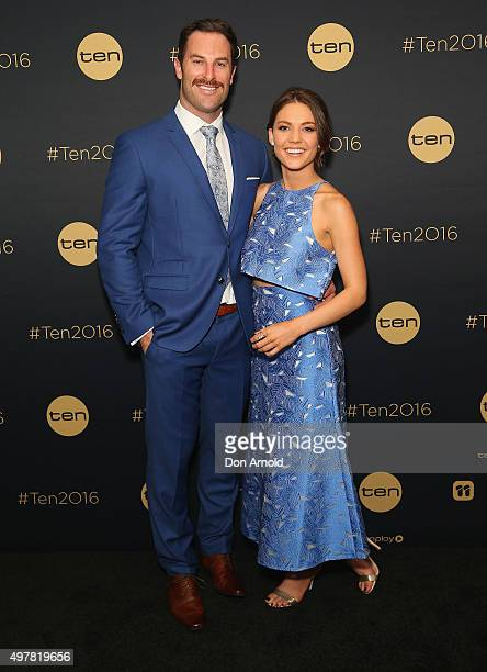 Sasha Mielczarek and Sam Frost pose at The Star during the Network 10 Content Plan 2016 event on November 19 2015 in Sydney Australia