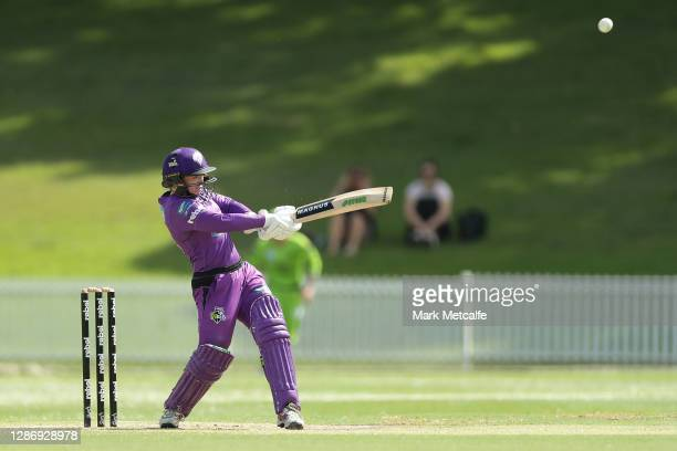 Sasha Moloney of the Hurricanes bats during the Women's Big Bash League WBBL match between the Sydney Thunder and the Hobart Hurricanes at Drummoyne...